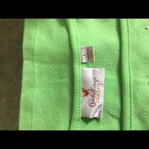Shirt lime green,size large